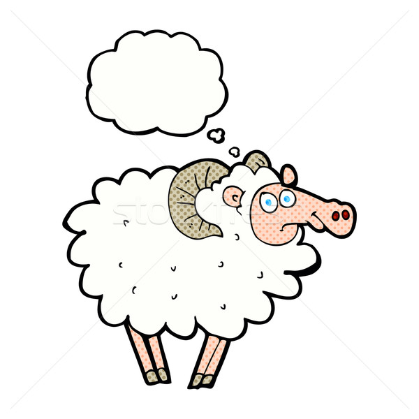 cartoon ram with thought bubble Stock photo © lineartestpilot