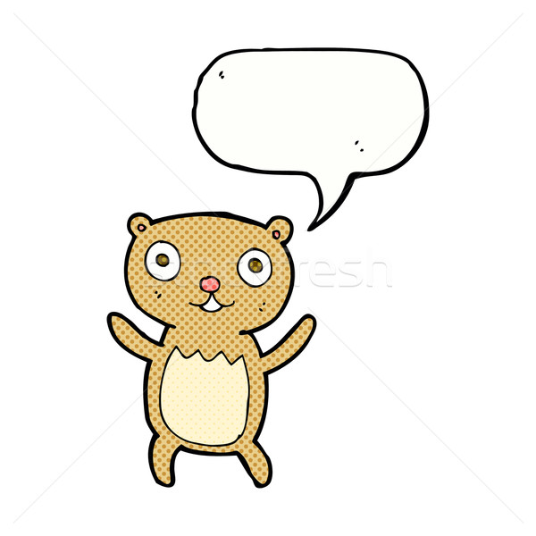 cartoon teddy bear with speech bubble Stock photo © lineartestpilot
