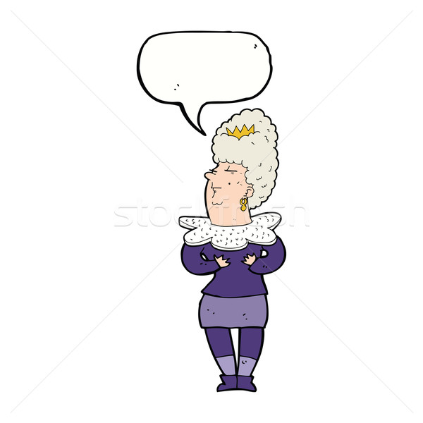 cartoon aristocratic woman with speech bubble Stock photo © lineartestpilot