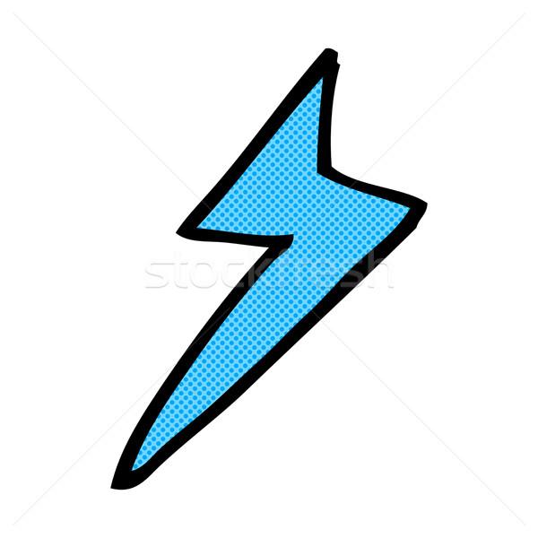Képregény rajz villám szimbólum retro képregény Stock fotó © lineartestpilot