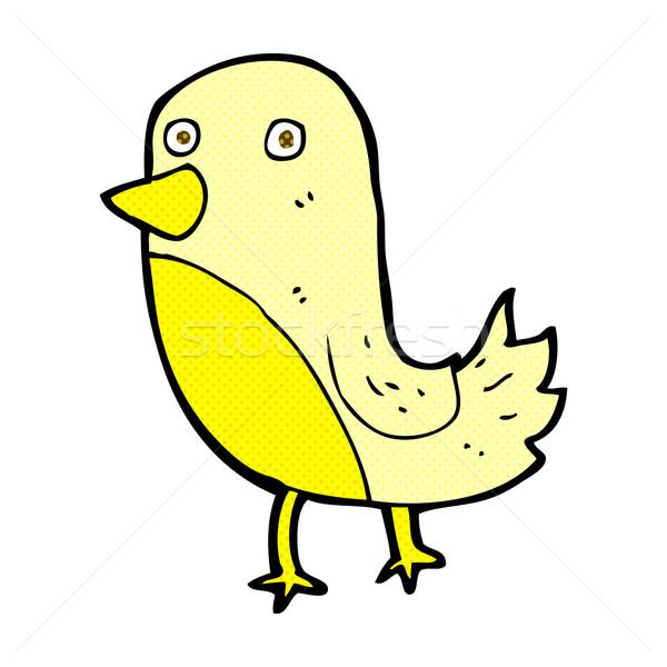 Stock fotó: Képregény · rajz · citromsárga · madár · retro · képregény