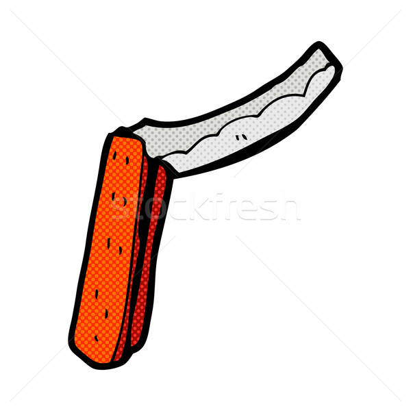 Komik karikatür ustura Retro stil Stok fotoğraf © lineartestpilot