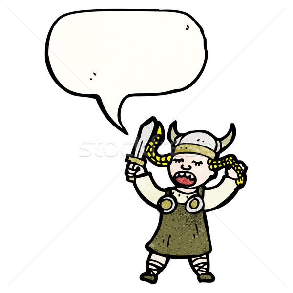 cartoon viking woman Stock photo © lineartestpilot