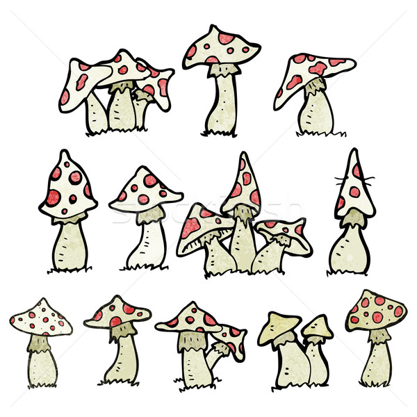cartoon toadstools collection Stock photo © lineartestpilot
