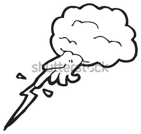 Cartoon marihuana cigarrillo textura mano feliz Foto stock © lineartestpilot