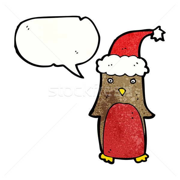 cartoon christmas robin Stock photo © lineartestpilot