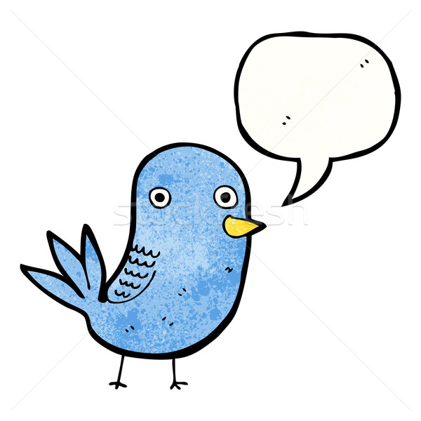 cartoon singing bird Stock photo © lineartestpilot