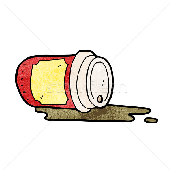 spilled coffee cup cartoon Stock photo © lineartestpilot