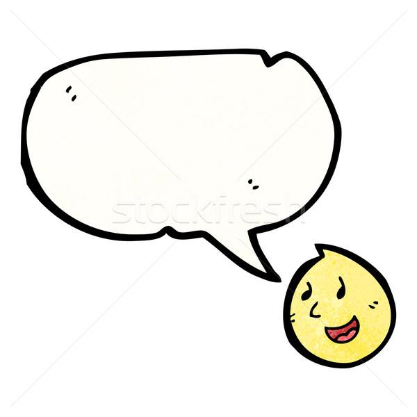 Sprechen glückliches Gesicht Symbol Karikatur Gesicht Zeichen Stock foto © lineartestpilot