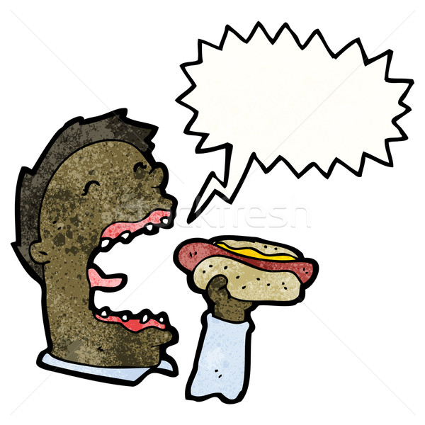 cartoon man eating junk food Stock photo © lineartestpilot