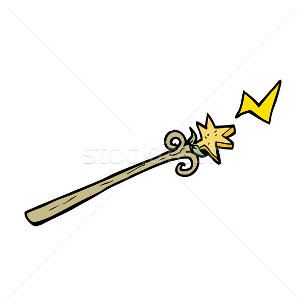 cartoon magic wand Stock photo © lineartestpilot