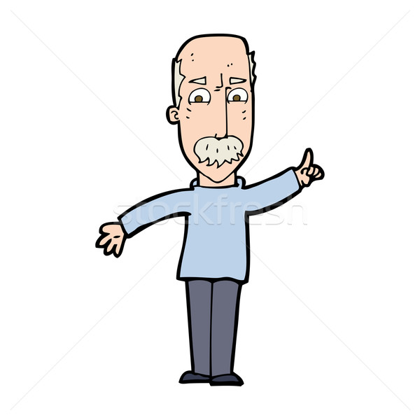 cartoon man issuing stern warning Stock photo © lineartestpilot