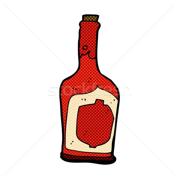 Cómico Cartoon botella ron retro Foto stock © lineartestpilot