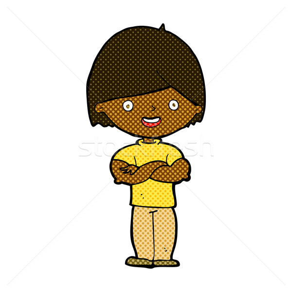 comic cartoon man with crossed arms Stock photo © lineartestpilot