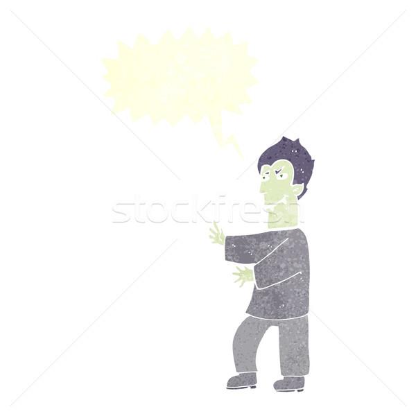 Cartoon вампир речи пузырь стороны человека дизайна Сток-фото © lineartestpilot