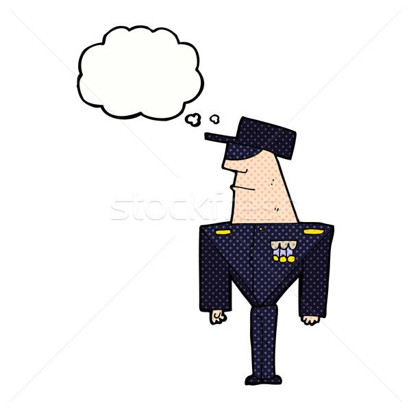 Cartoon straży bubble myśl strony projektu sztuki Zdjęcia stock © lineartestpilot