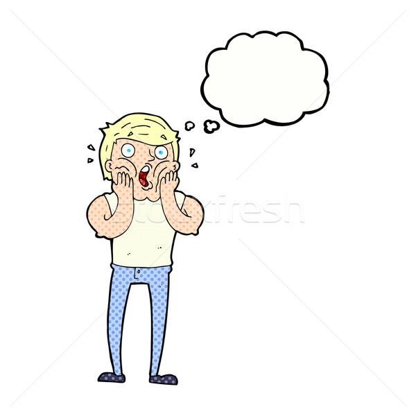 Cartoon человека мысли пузырь стороны дизайна искусства Сток-фото © lineartestpilot