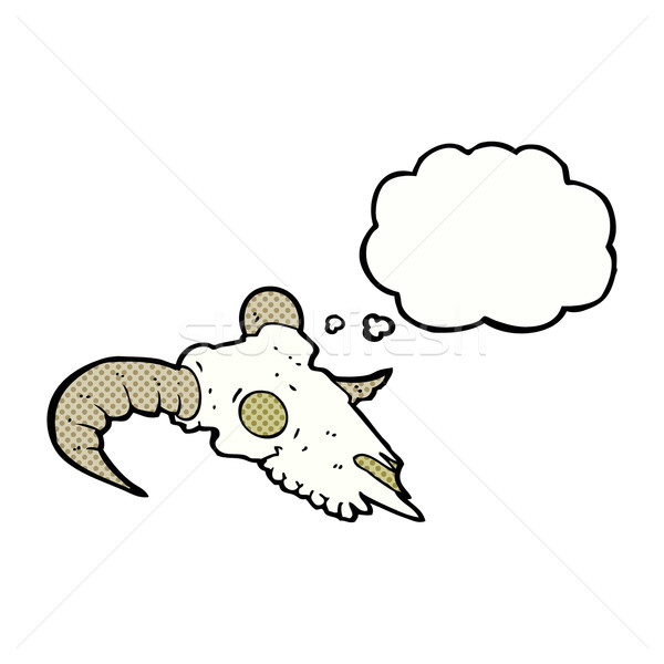 cartoon ram skull with thought bubble Stock photo © lineartestpilot