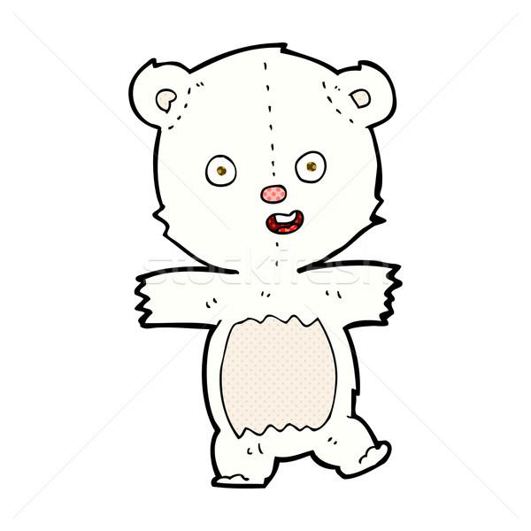 Cômico desenho animado bonitinho urso polar retro Foto stock © lineartestpilot