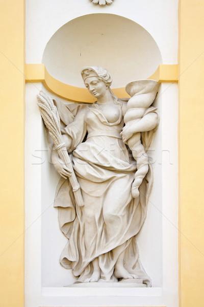 Baroque sculpture symboles arts palais Varsovie Photo stock © linfernum