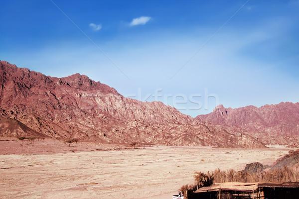 Red rocks on Sinai near Moses Mountain.  Stock photo © linfernum