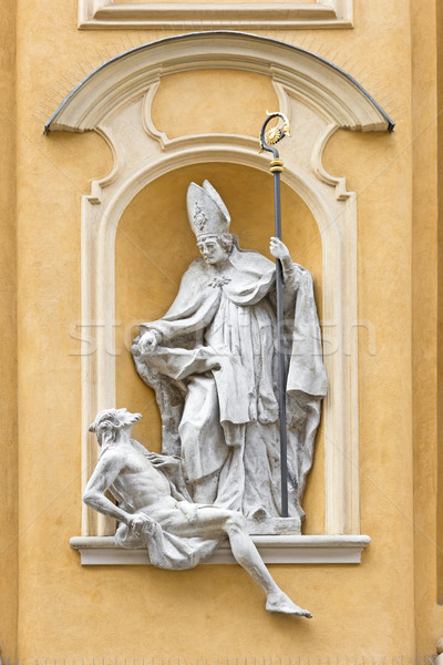 Symbols in arts - Saint Martin helps poor man. Stock photo © linfernum
