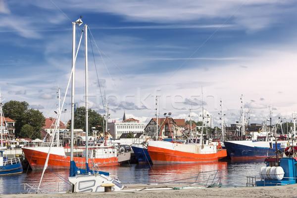 Pologne port ville Photo stock © linfernum