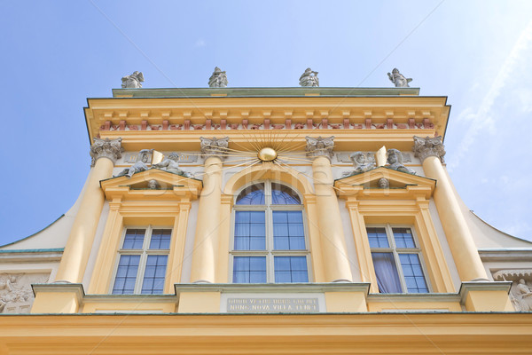 Varsovie palais siège roi ciel Photo stock © linfernum