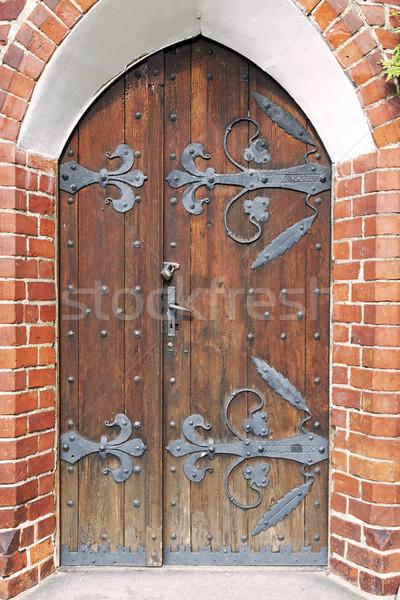 Classique architecture vieux élégant porte château Photo stock © linfernum