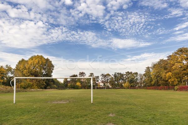 Automne sport domaine arbre sport fond Photo stock © linfernum