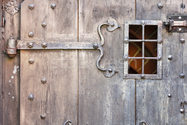 Old gate. Stock photo © linfernum