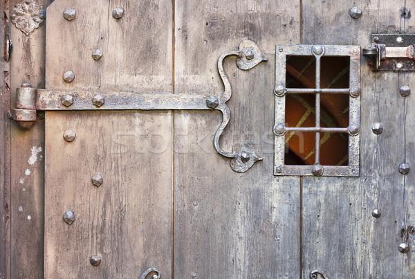Vieux porte bois porte bois mort Photo stock © linfernum