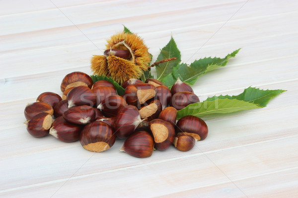 Pile of chestnuts Stock photo © Lio22