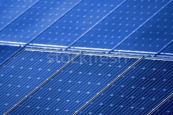 Fotovoltaikus tömb napenergia állomás energia elektromosság Stock fotó © Lio22