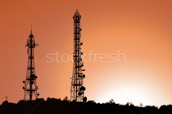 Antenna pylons Stock photo © Lio22