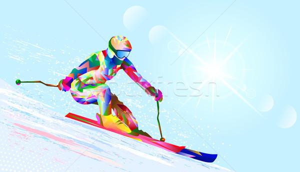 Alpine skier Stock photo © liolle