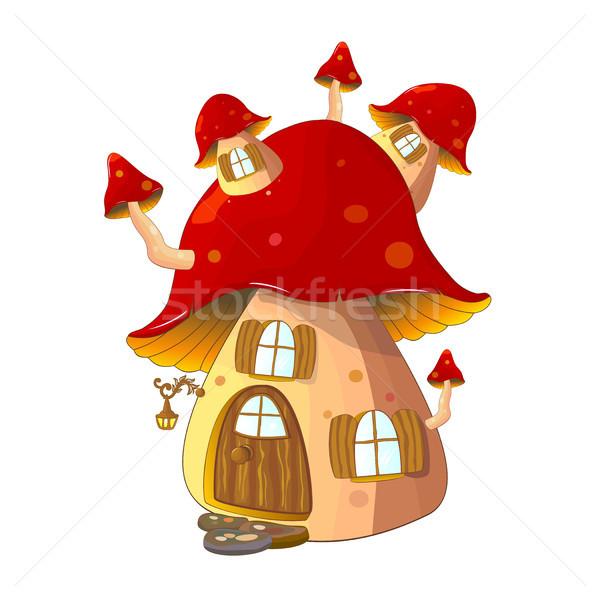 Mushroom house fabulous Stock photo © liolle