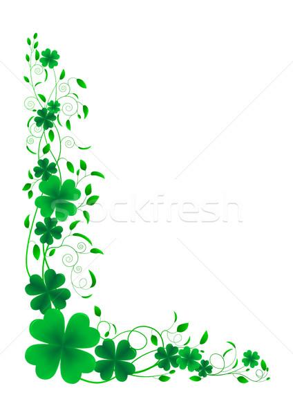 Trevo floral ornamento folha branco padrão Foto stock © liolle
