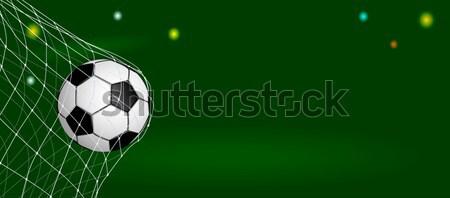 Voetbal bal net doel voetbal poort Stockfoto © liolle