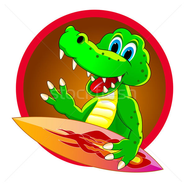 Crocodile surfer  Stock photo © liolle