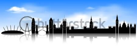 Skyline London city. Stock photo © liolle