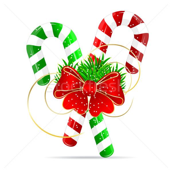 Christmas snoep Rood voedsel winter viering Stockfoto © liolle