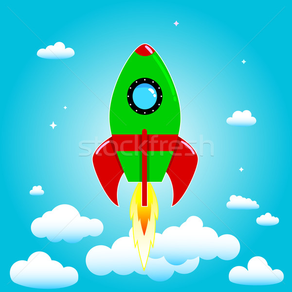 Launch rocket Stock photo © liolle