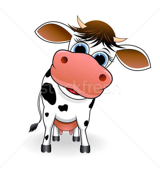 Cute spotted cow Stock photo © liolle