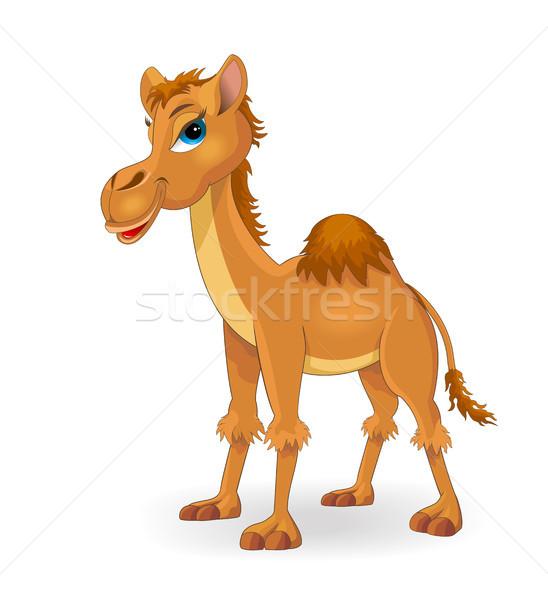 Camello Cartoon marrón color blanco granja Foto stock © liolle