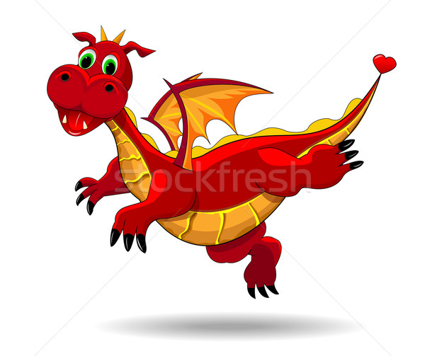 Cute funny dragon Stock photo © liolle