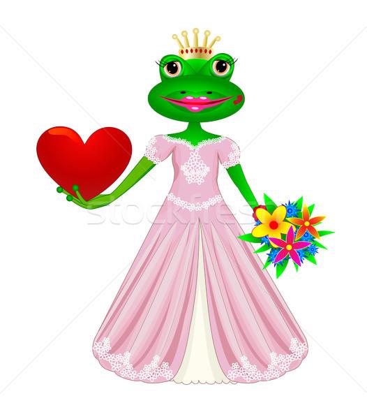 Sapo Amor Desenho Animado Princesa Coracao Flores