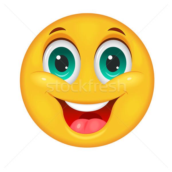 Glimlachend groot Geel witte grappig Stockfoto © liolle