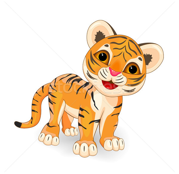 Cute  tiger Stock photo © liolle