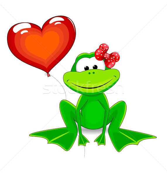 A frog with a balloon Stock photo © liolle